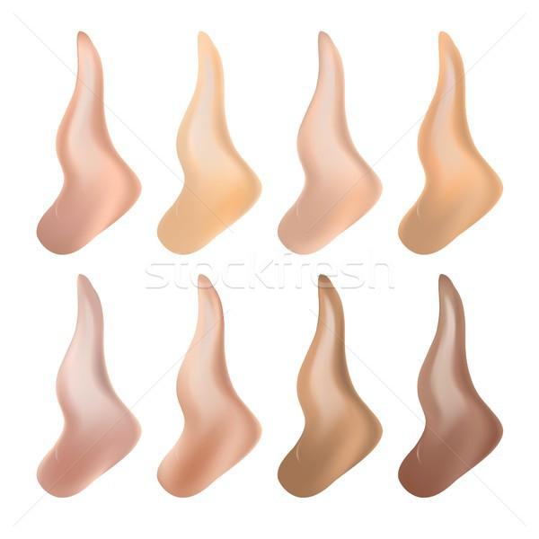 Liquid Foundation Vector. Cosmetic Cream. Woman Fashion. BB Cream Liquid. Realistic Isolated Illustr Stock photo © pikepicture