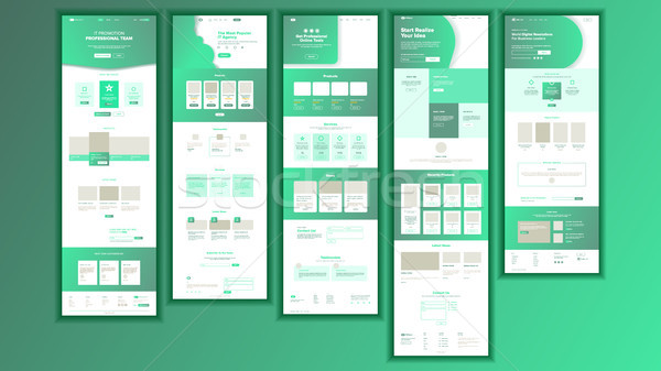 Website Page Vector. Business Website. Web Page. Landing Design Site Scheme Template. Product Testim Stock photo © pikepicture