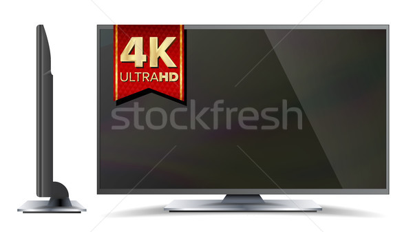 4k TV Vector Screen. Ultra HD Resolution Format. Modern LCD Digital Wide Television Plasma Concept.  Stock photo © pikepicture