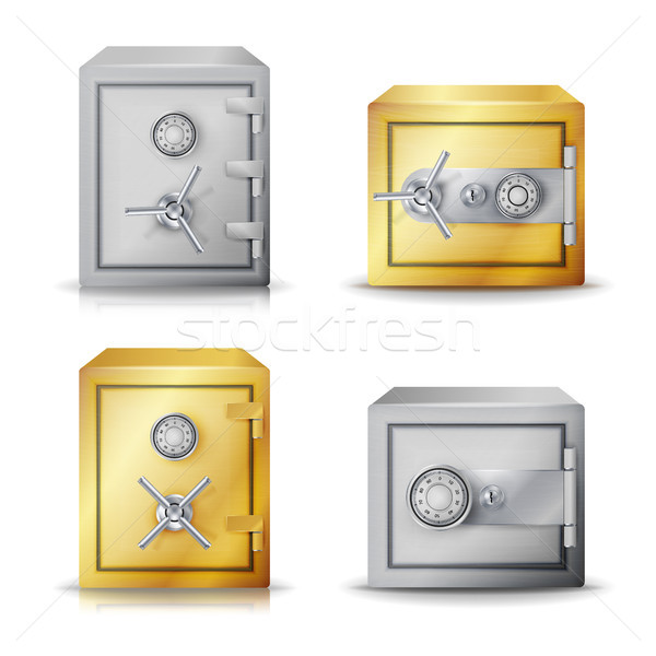 Metal Safe Realistic Vector Stock photo © pikepicture