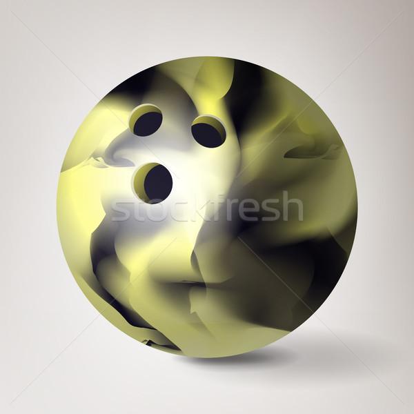 Bowling ball wektora 3D realistyczny ilustracja Zdjęcia stock © pikepicture