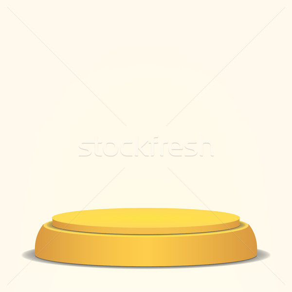 Empty Vector Podium. Yellow 3D Stage. Realistic Platform. Round Pedestal Concept. Stock photo © pikepicture