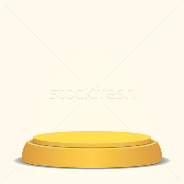 Boş vektör podyum sarı 3D sahne Stok fotoğraf © pikepicture