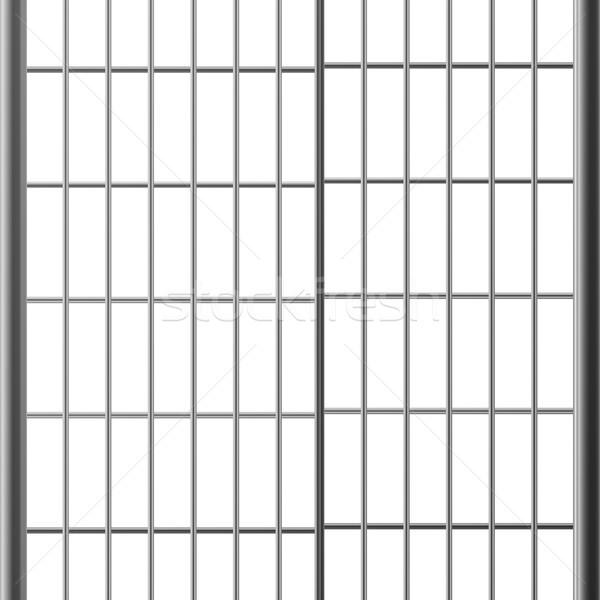 Prisión bar puertas aislado blanco acero Foto stock © pikepicture