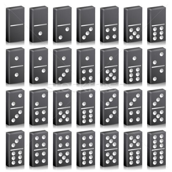 Domino Full Set Vector Realistic 3D Illustration Stock photo © pikepicture