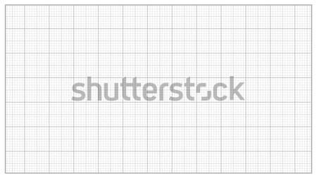Millimeter Paper Vector. Grey. Graphing Paper For Engineering, Education, Drawing Projects. Graph Gr Stock photo © pikepicture