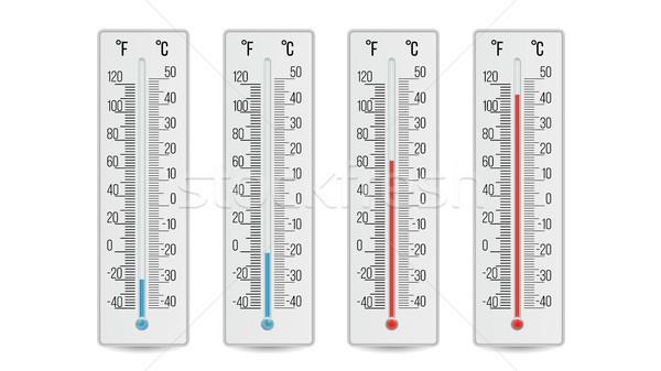 Ministerio del interior termómetro vector caliente Foto stock © pikepicture