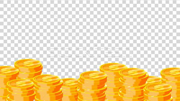 érmék vektor arany dollár pénzügy halom Stock fotó © pikepicture