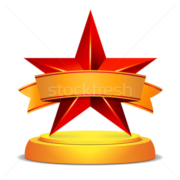 Or star attribution brillant modernes trophée Photo stock © pikepicture