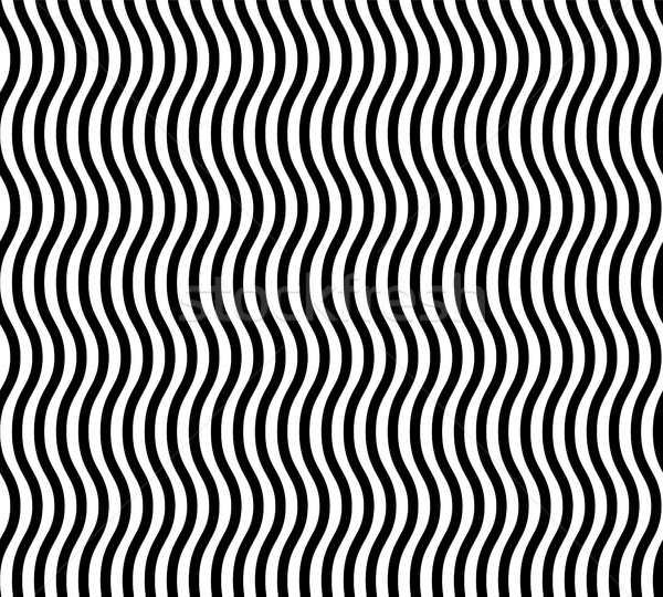 Wavy Lines Seamless Vector Abstract Background. Geometric Design. Interlacing Rounded Stripes Stylis Stock photo © pikepicture