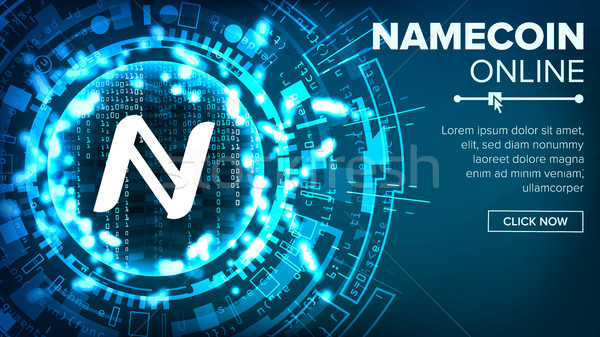 Namecoin Abstract Technology Background Vector. Binary Code. Fintech Blockchain. Cryptography. Crypt Stock photo © pikepicture