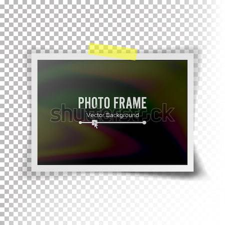 Screen Lcd Plasma Vector. Realistic Flat Smart TV. Curved Television Modern Blank On Checkered Backg Stock photo © pikepicture