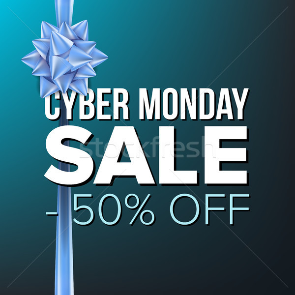 Cyber Monday Sale Banner Vector. Big Super Sale. Cartoon Business Brochure Illustration. Design For  Stock photo © pikepicture