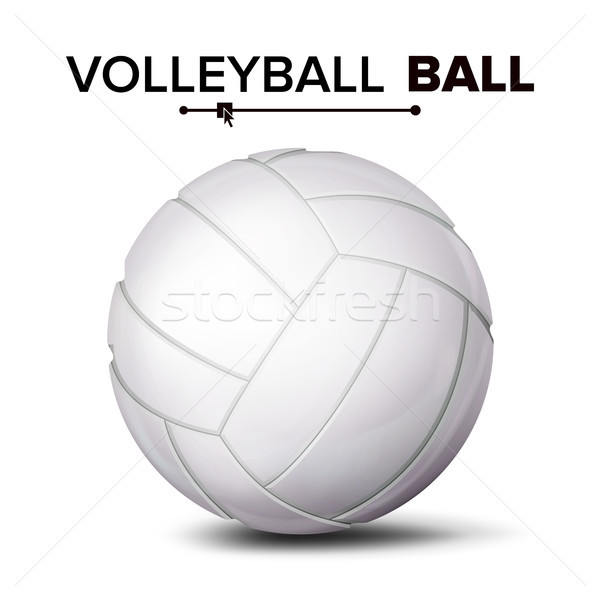 Realistic Volleyball Ball Vector. Classic Round White Ball. Sport Game Symbol. Illustration Stock photo © pikepicture