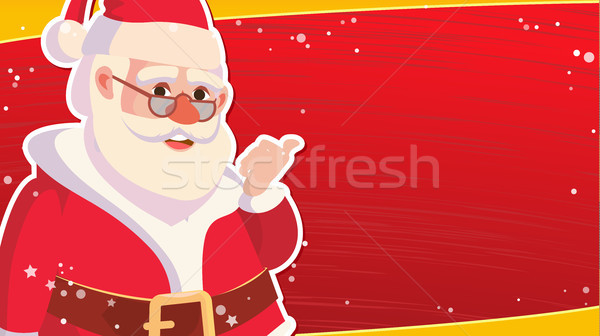 Christmas Sale Banner Template With Classic Xmas Santa Claus Vector. Discount Special Offer Sale Ban Stock photo © pikepicture