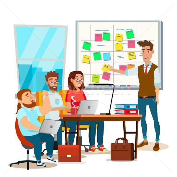 Business Zeichen Teamarbeit Vektor Büro Aufgaben Stock foto © pikepicture