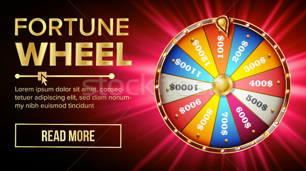 Wheel Of Fortune Vector. Gamble Chance Leisure. Colorful Gambling Wheel. Jackpot Prize Concept Backg Stock photo © pikepicture