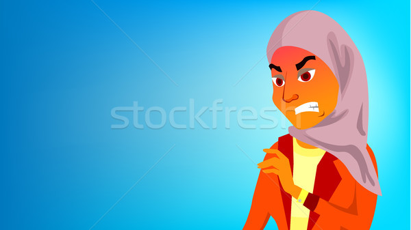Arab Woman Banner Vector. Traditional Cloths. Young Muslim Wearing Hijab. For Presentation, Print, I Stock photo © pikepicture