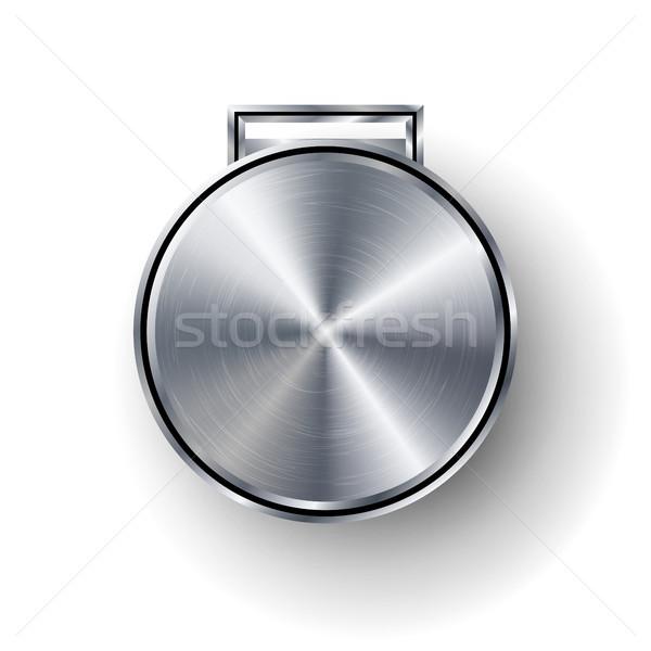 конкуренция играх серебро медаль шаблон вектора Сток-фото © pikepicture