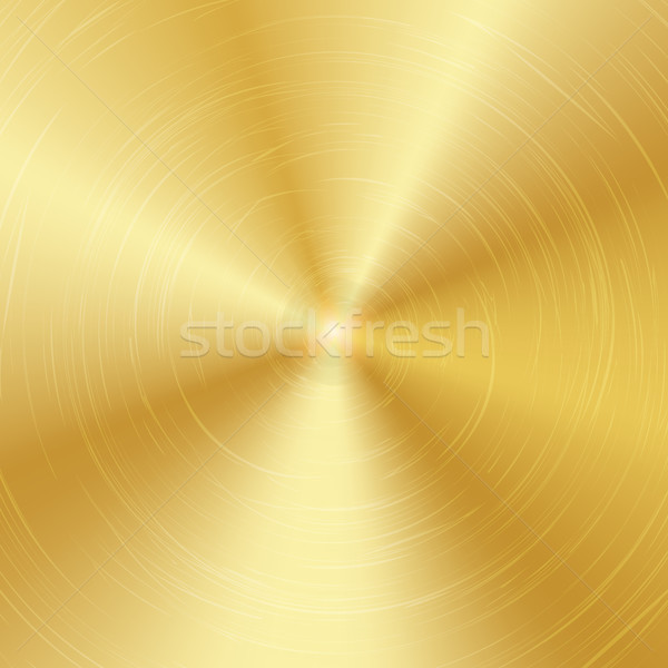 Gold Or Bronze Metal Abstract Technology Background. Polished, Brushed Texture. Vector illustration. Stock photo © pikepicture