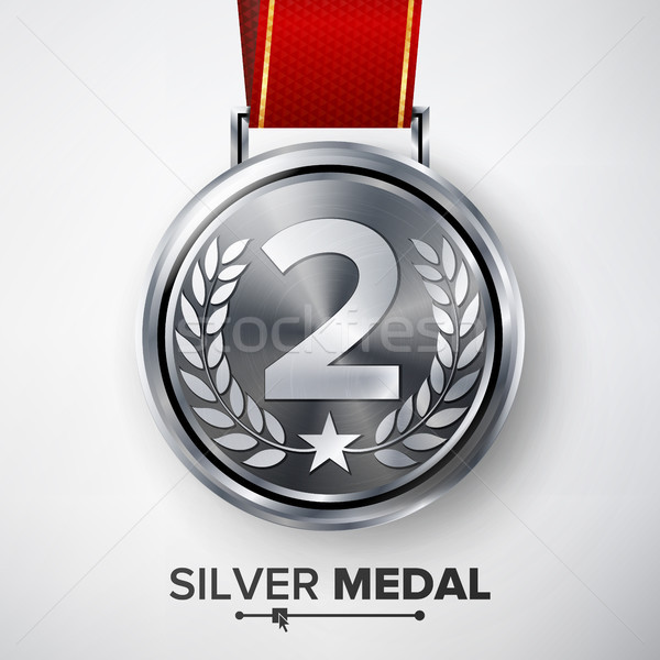 Silver Medal Vector. Stock photo © pikepicture