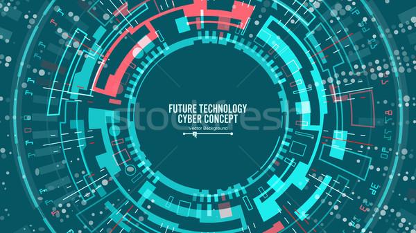 Abstrato futurista vetor segurança ciberespaço Foto stock © pikepicture