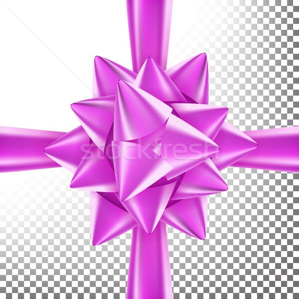 3D íj szalag vektor gyönyörű fényes Stock fotó © pikepicture