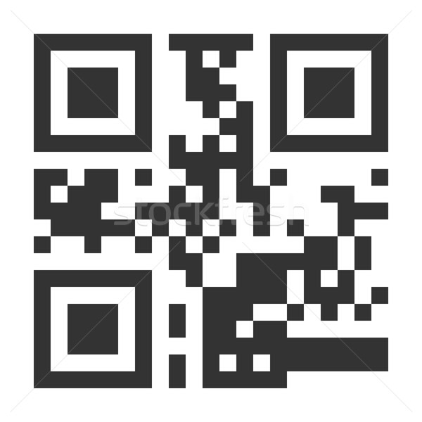 QR Code Vector. Hidden Text Or Url. Scanning Smartphone Technology. Isolated Classic QR Illustration Stock photo © pikepicture