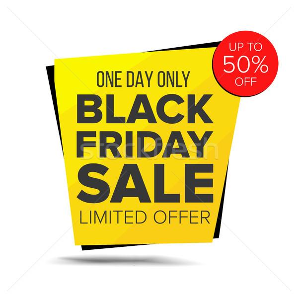 Black friday vendita banner vettore metà prezzo Foto d'archivio © pikepicture