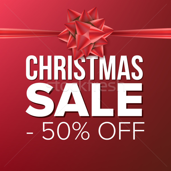 Christmas Sale Banner Vector. Vector. Crazy Discounts Poster. Business Advertising Illustration. Win Stock photo © pikepicture