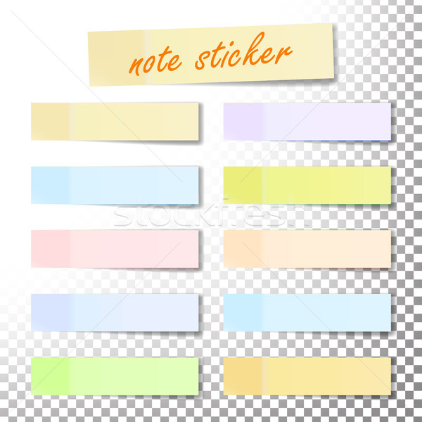 Stock photo: Post Note Sticker Vector. Paper Sticky Tape With Shadow. Adhesive Office Paper Tape. Isolated Realis