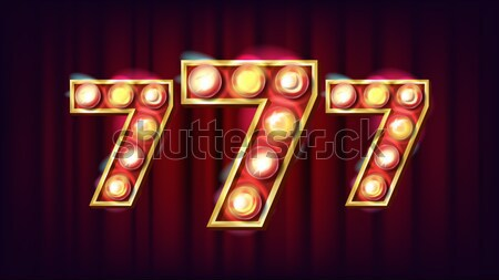 H Letter Vector. Capital, Lowercase. Font Marquee Light Sign. Retro Shine Lamp Bulb Alphabet. 3D Ele Stock photo © pikepicture