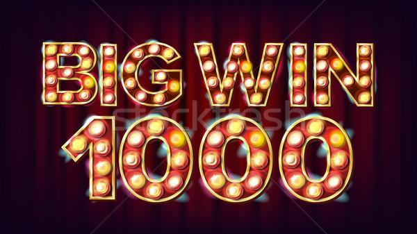 Grand gagner 1000 bannière vecteur casino Photo stock © pikepicture