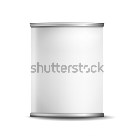 Metal Tin Box Can Vector. 3d Realistic Empty Packaging Container. For Baby Powder Milk, Tea, Coffee, Stock photo © pikepicture