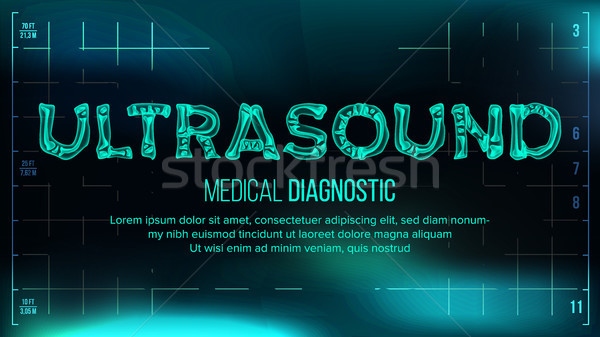 Ultrasons bannière vecteur médicaux transparent xray Photo stock © pikepicture