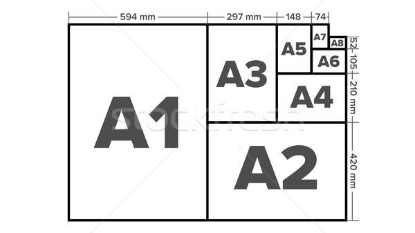 бумаги вектора лист изолированный иллюстрация размер Сток-фото © pikepicture