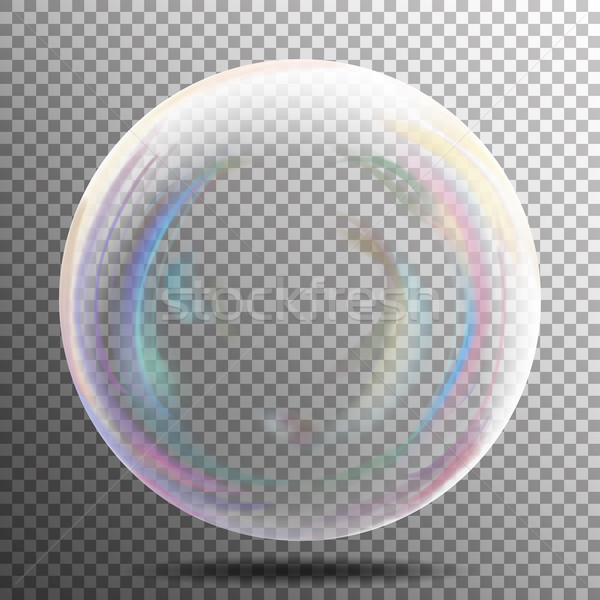 Transparent bulle de savon vecteur réaliste air bulle Photo stock © pikepicture
