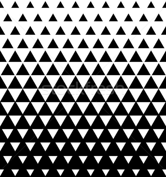 Halftone Triangular Pattern Vector. Abstract Transition Triangular Pattern Wallpaper. Seamless Black Stock photo © pikepicture