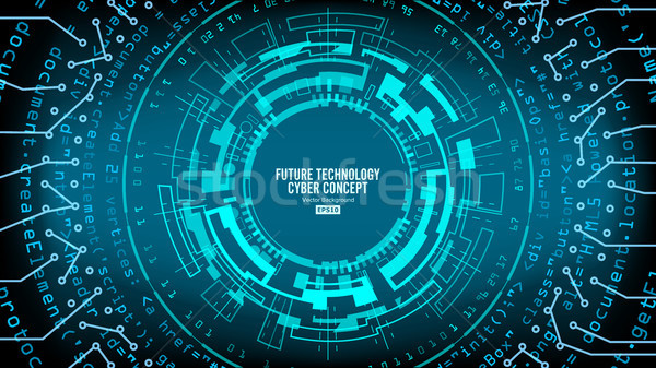 Abstract Futuristic Technological Background Vector. Hi Speed Digital Design. Security Network Backd Stock photo © pikepicture