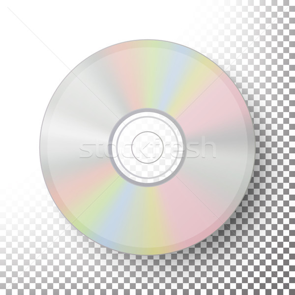 DVD Disc Vector. Realistic Compact CD Disc Mock Up Isolated On Transparent Background. Music Plastic Stock photo © pikepicture