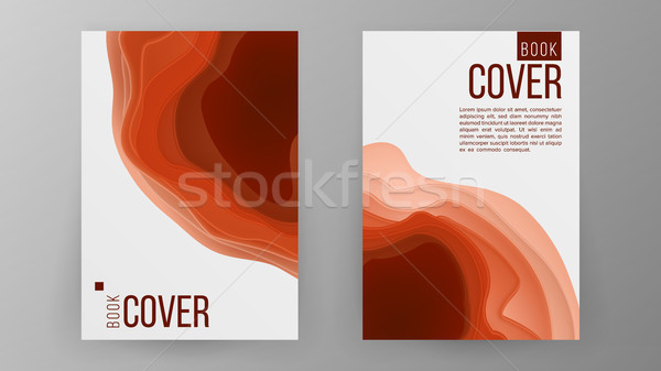 Modern Brochure Design Vector. Cover Book Minimal Portfolio Presentation. Paper Carve Abstract Cover Stock photo © pikepicture