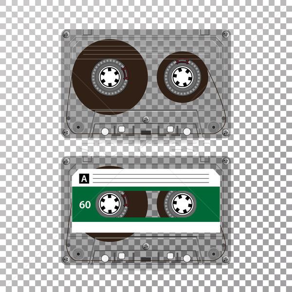 ретро аудио кассету вектора реалистичный изолированный Сток-фото © pikepicture