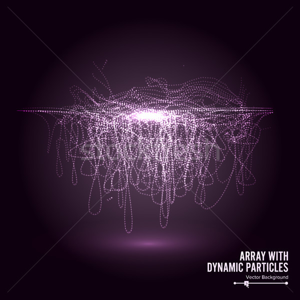 Array Vector With Dynamic Particles. Round Shape Of  . Graphic Abstract Background  Lighting Effect Stock photo © pikepicture