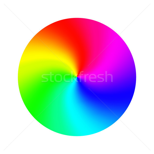 Color Wheel Vector. Abstract Colorful Rainbow Circle. Isolated Illustration Stock photo © pikepicture