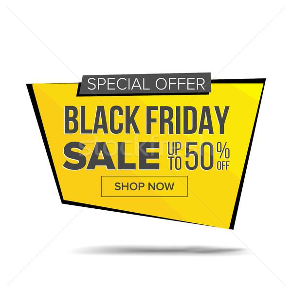 черная пятница продажи баннер вектора скидка тег Сток-фото © pikepicture