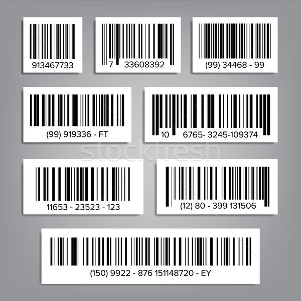 Bar Code Set Vector. UPC Bar Codes. Universal Product Code. Market Trademark. Isolated Illustration Stock photo © pikepicture