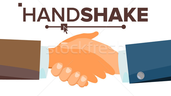 Handshake Concept Vector. Business People Cooperation. Meeting Agreement. Flat Illustration Stock photo © pikepicture