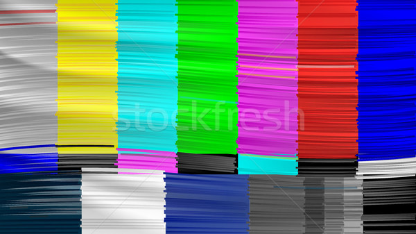 No Signal TV. Descendant Network. No signal. Distorted glitch TV. Vector Illustration Stock photo © pikepicture