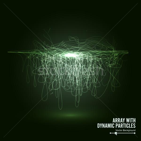 Vektör dinamik parçacıklar büyük veri Stok fotoğraf © pikepicture