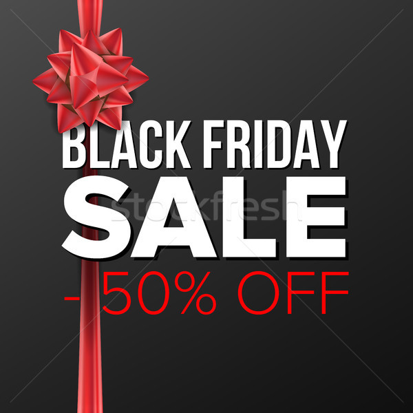 Stock photo: Black Friday Sale Banner Vector. Big Super Sale. Cartoon Business Brochure Illustration. Design For
